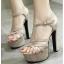 รองเท้าส้นสูง ไซต์ 35-39 สีดำ/น้ำตาล thumbnail 3