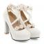 รองเท้าส้นสูงแต่งดอกไม้น่ารักๆสีชมพู/ขาว/ดำ ไซต์ 34-43 thumbnail 10