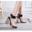 รองเท้าส้นสูงส้นหนาสีดำ/ขาว ไซต์ 34-40 thumbnail 5