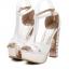 รองเท้าส้นสูง ไซต์ 34-39 สีเงิน สีทอง สีขาว thumbnail 9