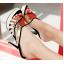 รองเท้าส้นสูงแบบสวมสีแดง/ดำ ไซต์ 34-39 thumbnail 3