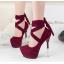รองเท้าส้นสูง ไซต์ 34-39 สีดำ/เทา/ม่วง/เขียวขี้ม้า thumbnail 3