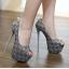รองเท้าส้นสูง ไซต์ 34-40 สีดำ สีเทา thumbnail 2