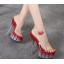 รองเท้าส้นสูงดีไซน์ส้นสวยหรูสีแดง/ดำ/ขาว ไซต์ 34-40 thumbnail 5