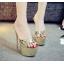 รองเท้าส้นสูงแบบสวมสีเงิน/ทอง ไซต์ 34-39 thumbnail 6