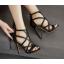 รองเท้าส้นสูงสายไขว้สีชมพู/ดำ ไซต์ 35-40 thumbnail 5