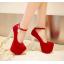 รองเท้าส้นสูง ไซต์ 34-39 สีดำ,แดง,น้ำเงิน thumbnail 4