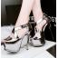 รองเท้าส้นสูง ไซต์ 34-39 สีดำ/เงิน/ทอง/เทา thumbnail 7