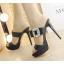 รองเท้าส้นสูงแบบสวยหรูสีดำ/ครีม ไซต์ 34-38 thumbnail 4
