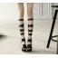 รองเท้าสายรัดยาวสีดำ/ขาว/ครีม ไซต์ 34-43 thumbnail 2
