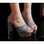 รองเท้าส้นสูงกากเพชรหรูสีทอง/เงิน/ดำ/ขาว ไซต์ 34-39 thumbnail 6