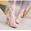 รองเท้าส้นสูงคัดชูสีชมพู/ดำ/ขาว ไซต์ 34-43 thumbnail 6