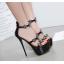 รองเท้าส้นสูงสีเงิน/ดำ ไซต์ 34-40 thumbnail 2
