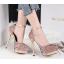 รองเท้าส้นสูงเกร็ดเพชรแน่นสีดำ/ขาว/เงิน/ทอง/แชมเปน ไซต์ 34-39 thumbnail 2