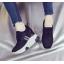 รองเท้าผ้าใบเสริมส้น ไซต์ 35-39 สีขาว/ดำ thumbnail 2