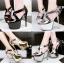 รองเท้าส้นสูง ไซต์ 34-39 สีดำ/เงิน/ทอง/เทา thumbnail 1