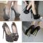รองเท้าส้นสูง ไซต์ 34-40 สีดำ สีเทา thumbnail 1