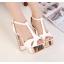 รองเท้าส้นสูง ไซต์ 34-39 สีเงิน สีทอง สีขาว thumbnail 5