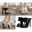 รองเท้าส้นสูงแบบสวมสีดำ/ขาว ไซต์ 35-40 thumbnail 1