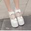 รองเท้าส้นสูงส้นหนาสีดำ/ขาว ไซต์ 34-39 thumbnail 5