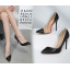 รองเท้าส้นสูงปลายแหลมสีดำ ไซต์ 35-40 thumbnail 2