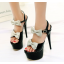 รองเท้าส้นสูงสีขาว/ดำ/แดง ไซต์ 34-39 thumbnail 4