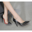 รองเท้าส้นสูงปลายแหลมสีดำ ไซต์ 35-40 thumbnail 3