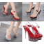 รองเท้าส้นสูงดีไซน์ส้นสวยหรูสีแดง/ดำ/ขาว ไซต์ 34-40 thumbnail 1