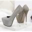รองเท้าส้นส้นสูงคัดชูสีแดง/ดำ/เงิน/ทอง/เทา ไซต์ 34-39 thumbnail 5