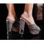 รองเท้าส้นสูงกากเพชรหรูสีทอง/เงิน/ดำ/ขาว ไซต์ 34-39 thumbnail 7