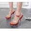 รองเท้าส้นสูงดีไซน์ส้นสวยหรูสีแดง/ดำ/ขาว ไซต์ 34-40 thumbnail 6