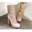 รองเท้าส้นสูงแต่งดอกไม้น่ารักๆสีชมพู/ขาว/ดำ ไซต์ 34-43 thumbnail 2