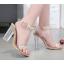 รองเท้าส้นสูงส้นแก้วสีเงิน/ทอง ไซต์ 35-39 thumbnail 2