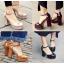 รองเท้าส้นสูงสีน้ำตาล/ดำ/ครีม/แดง ไซต์ 34-39 thumbnail 1
