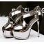รองเท้าส้นสูง ไซต์ 34-39 สีดำ/เงิน/ทอง/เทา thumbnail 12