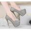 รองเท้าส้นส้นสูงคัดชูสีแดง/ดำ/เงิน/ทอง/เทา ไซต์ 34-39 thumbnail 4