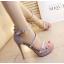 รองเท้าส้นสูงสีเทา/ดำ ไซต์ 34-38 thumbnail 5