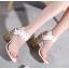 รองเท้าส้นสูงส้นหนาสีดำ/ขาว ไซต์ 34-40 thumbnail 4