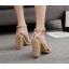 รองเท้าส้นสูงแต่งคริสตัลเม็ดเล็กสวยหรูสีดำ/แดง/ครีม ไซต์ 35-40 thumbnail 6