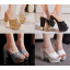 รองเท้าส้นสูงกากเพชรหรูสีทอง/เงิน/ดำ/ขาว ไซต์ 34-39 thumbnail 1
