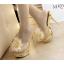 รองเท้าส้นสูงแบบสวมแต่งกุหลาบผ้าสีดำ /ทอง ไซต์ 34-38 thumbnail 6