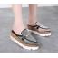 รองเท้าส้นเตารีดปลายแหลมแบบสวมติดคริสตัลเม็ดเล็กสุดหรู ไซต์ 34-39 thumbnail 1