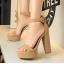รองเท้าส้นสูง ไซต์ 34-39 สีดำ/แดง/ครีม/น้ำตาลเข้ม/น้ำตาลอ่อน/เทา thumbnail 2