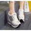 รองเท้าผ้าใบเสริมส้น ไซต์ 34-39 สีขาว/ดำ thumbnail 2