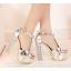 รองเท้าส้นสูง ไซต์ 34-39 สีเงิน สีทอง สีขาว thumbnail 7