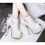 รองเท้าส้นสูง ไซต์ 34-39 สีดำ สีขาว สีเงิน สีเทา thumbnail 3
