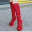 รองเท้าบูทส้นสูง ไซต์ 34-39 สีดำ/แดง/ครีม/เทา thumbnail 10