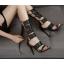 รองเท้าส้นสูงหนังสีดำแบบเท่ไซต์ 35-40 thumbnail 1