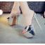 รองเท้าส้นสูงแบบสวมสีเงิน/ทอง ไซต์ 34-39 thumbnail 2