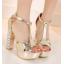 รองเท้าส้นสูง ไซต์ 34-39 สีเงิน สีทอง สีขาว thumbnail 11